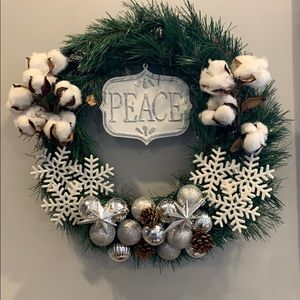 Peace winter wreath